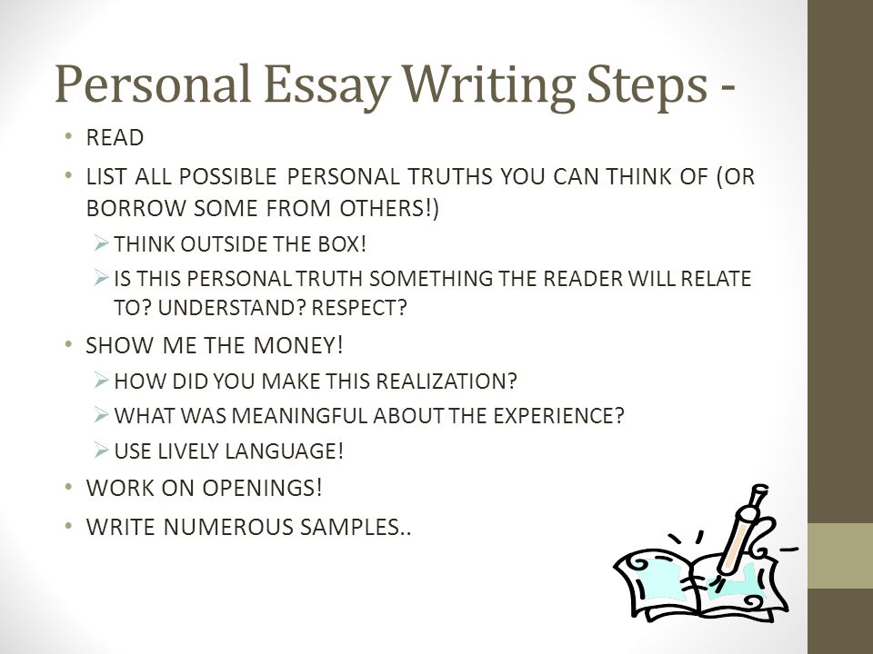 Personal Essay Writing Steps -