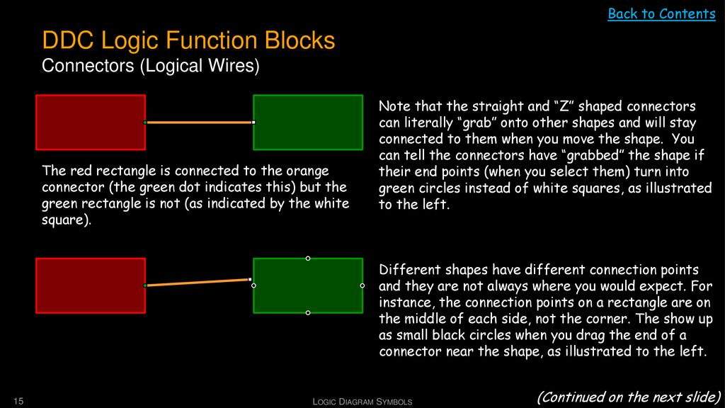 DDC Logic Function Blocks Connectors (Logical Wires)