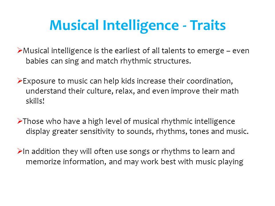 Musical Intelligence - Traits