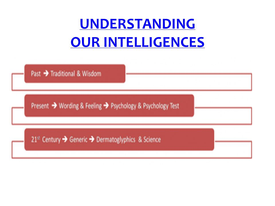 UNDERSTANDING OUR INTELLIGENCES
