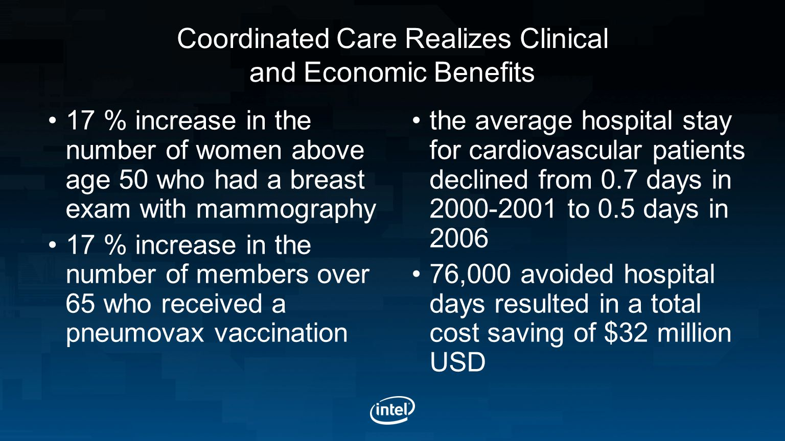Coordinated Care Realizes Clinical and Economic Benefits
