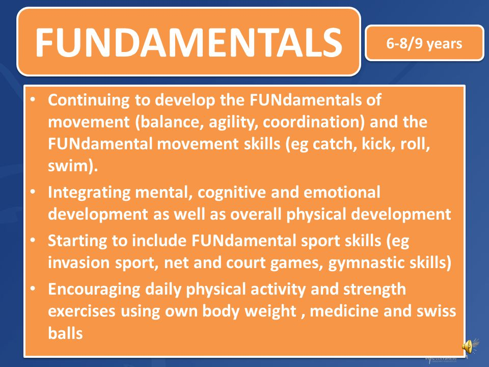 FUNDAMENTALS 6-8/9 years.