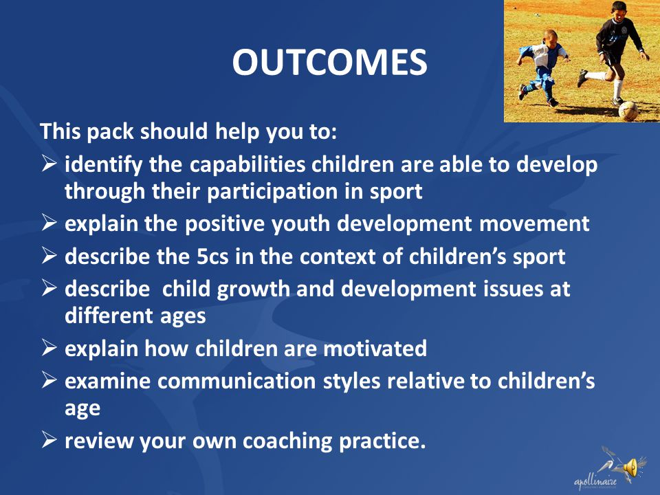 OUTCOMES This pack should help you to: