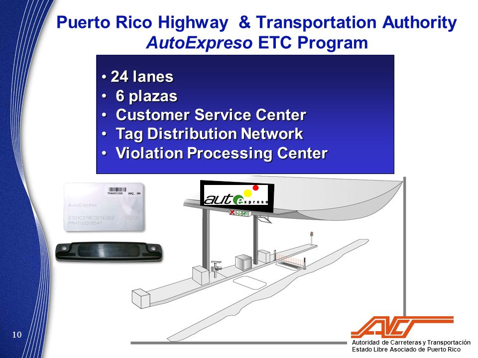 Puerto Rico Highway & Transportation Authority AutoExpreso ETC Program