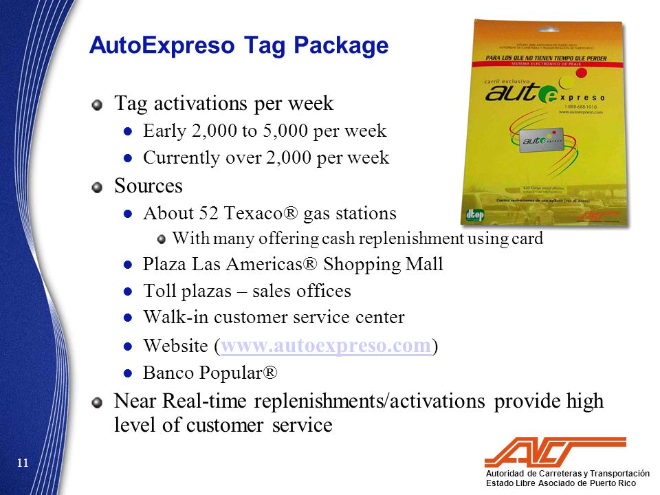 AutoExpreso Tag Package