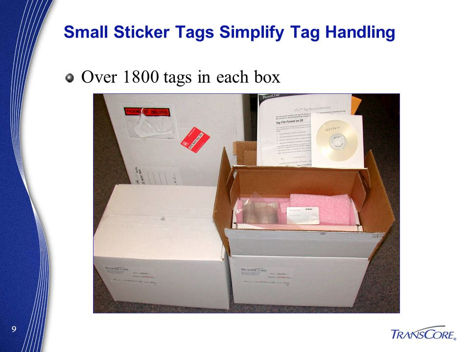 Small Sticker Tags Simplify Tag Handling