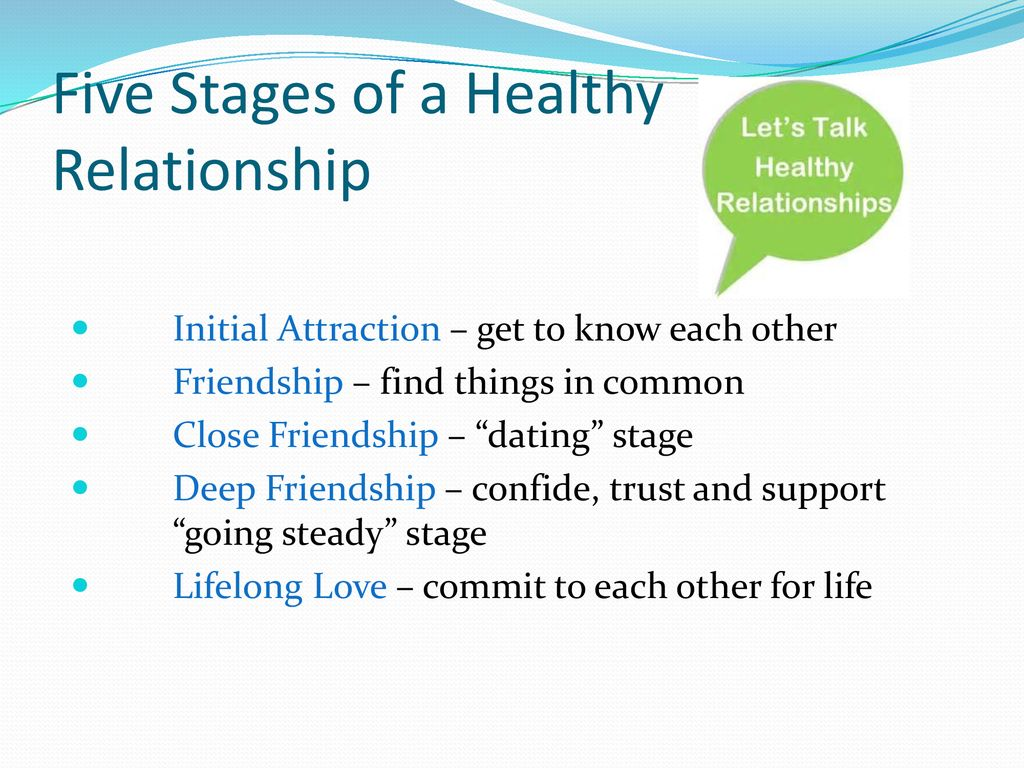 dating stages relationship