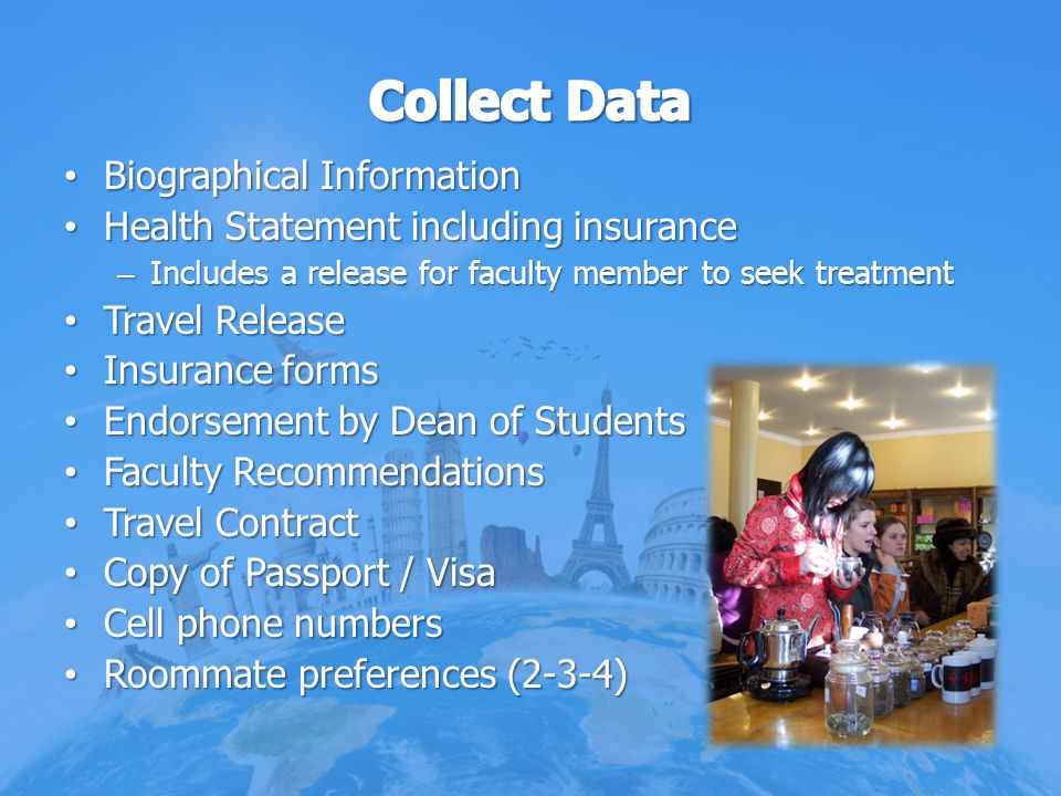 Collect Data Biographical Information