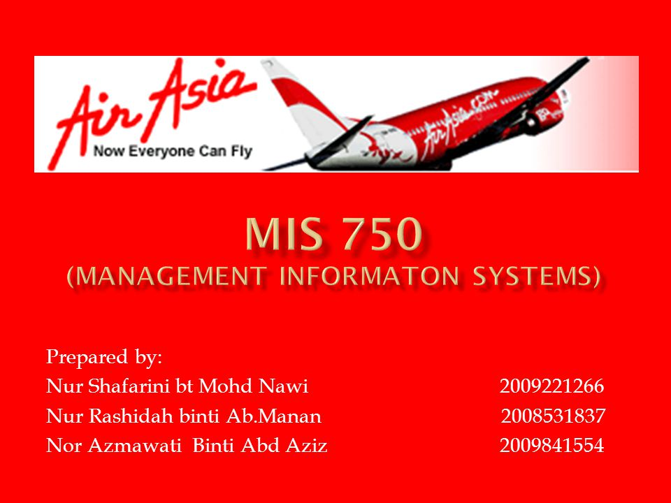 MIS 750 (MANAGEMENT INFORMATON SYSTEMS)