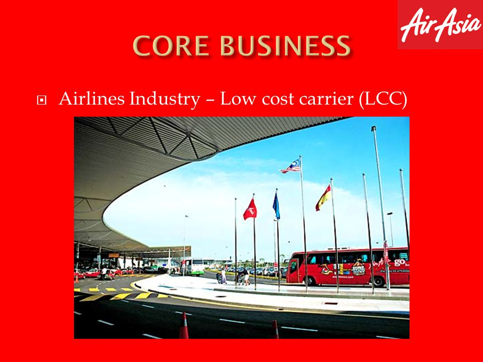 CORE BUSINESS Airlines Industry – Low cost carrier (LCC)