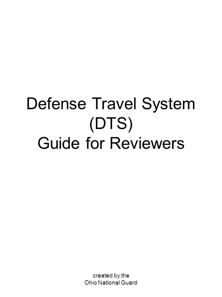 defense travel system dts guide for reviewers ppt download