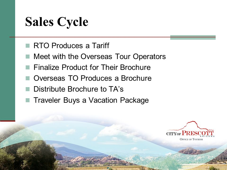 Sales Cycle RTO Produces a Tariff