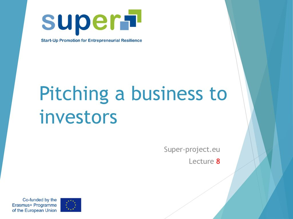 Pitching a business to investors - ppt download
