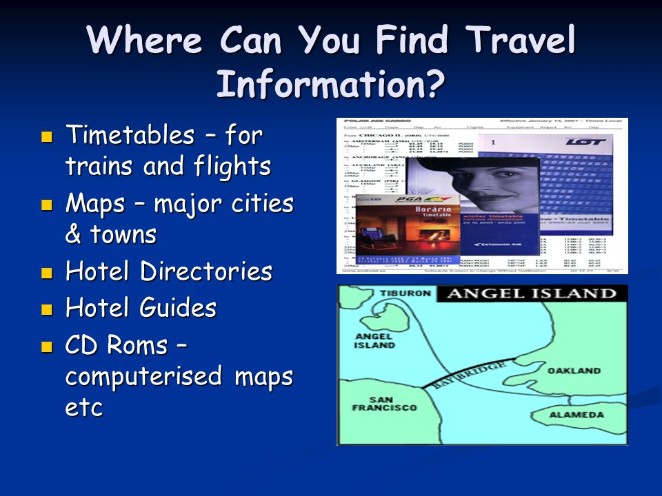 Where Can You Find Travel Information