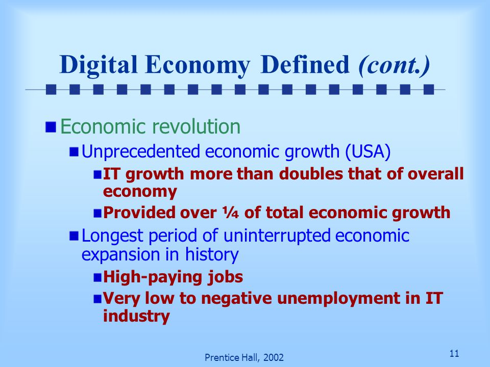 Digital Economy Defined (cont.)