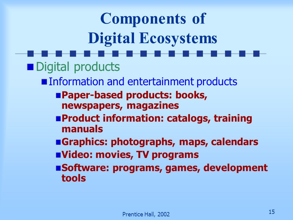 Components of Digital Ecosystems