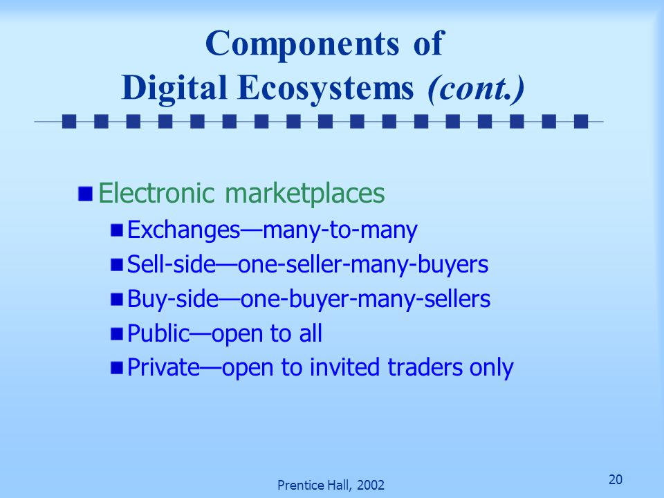 Components of Digital Ecosystems (cont.)