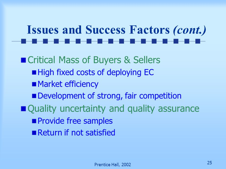 Issues and Success Factors (cont.)