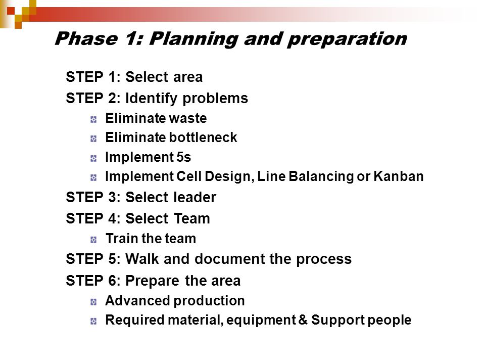 Phase 1: Planning and preparation