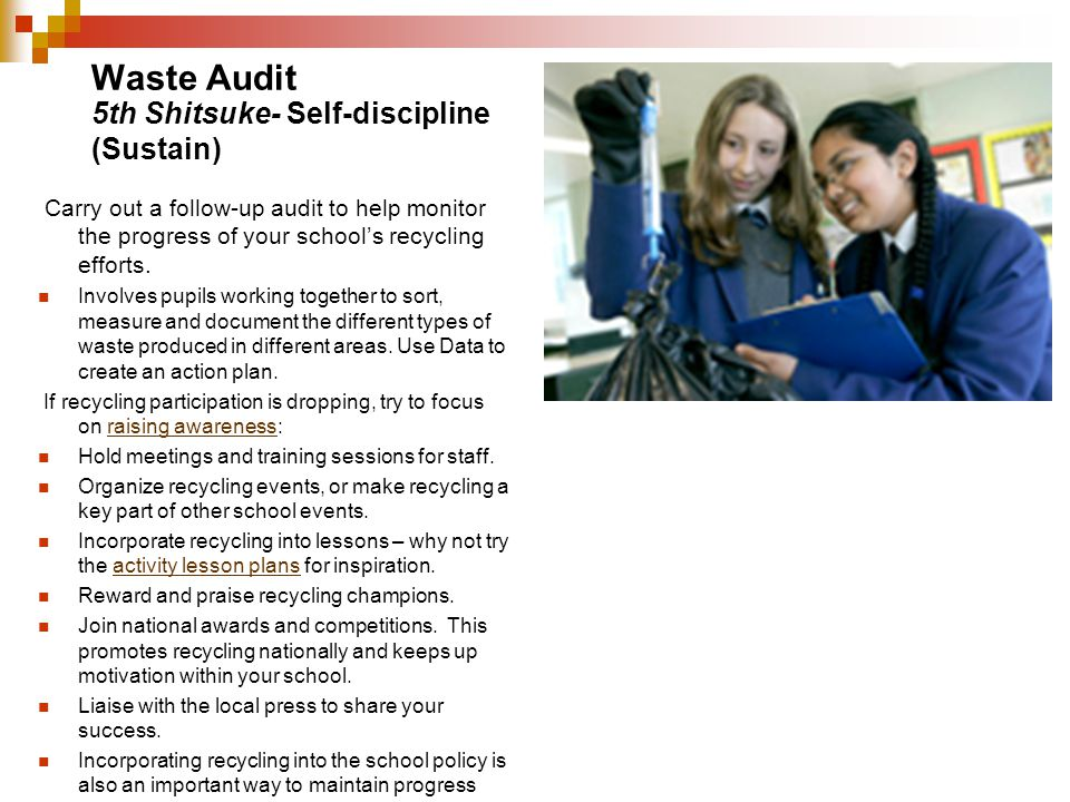 Waste Audit 5th Shitsuke- Self-discipline (Sustain)