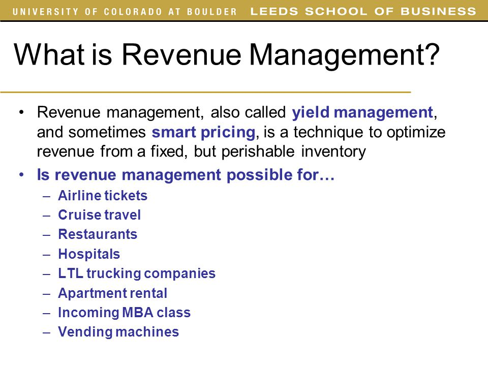 What is Revenue Management