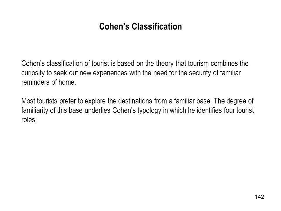Cohen's Classification