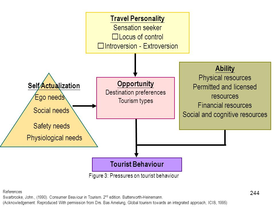Travel Personality Ability Opportunity Tourist Behaviour