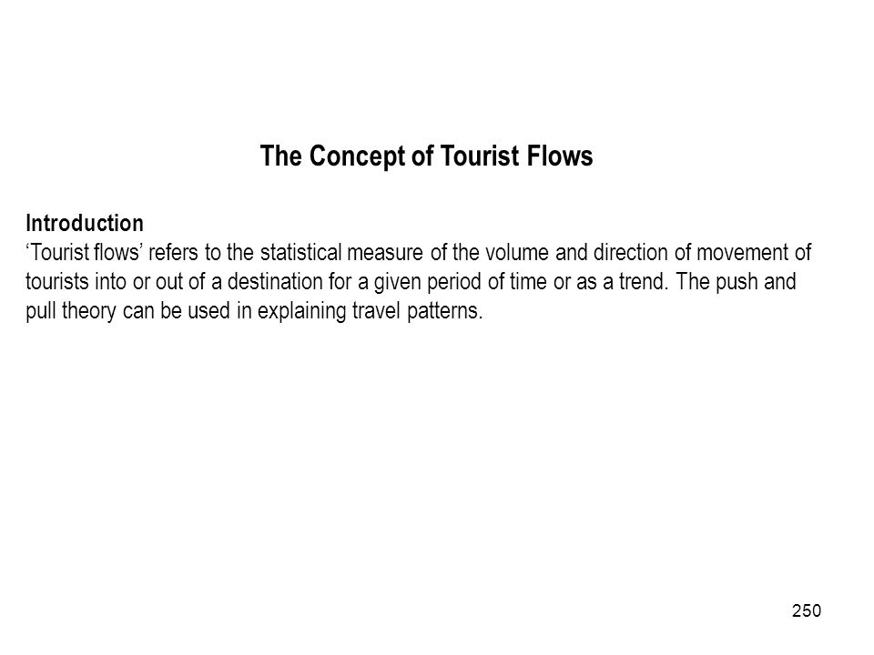 The Concept of Tourist Flows
