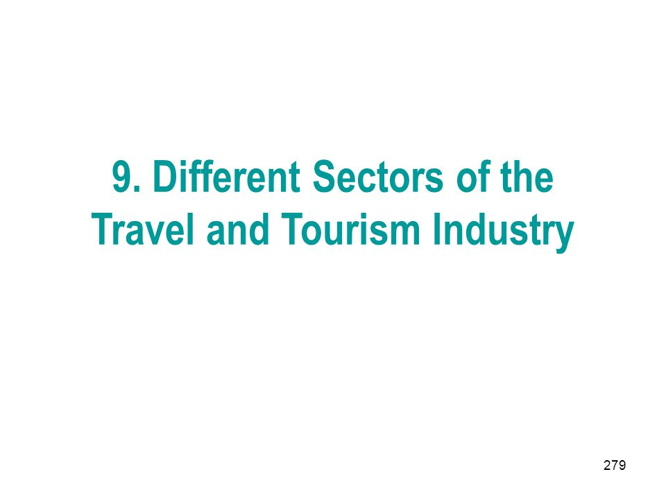9. Different Sectors of the