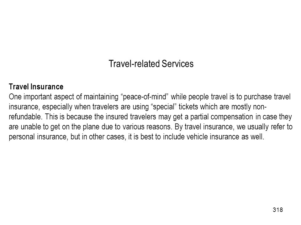 Travel-related Services