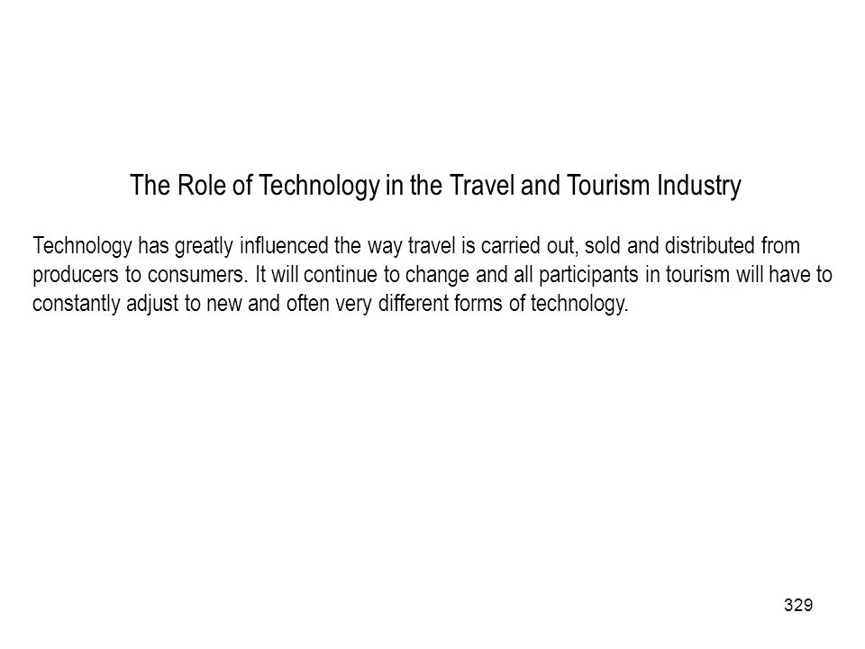 The Role of Technology in the Travel and Tourism Industry