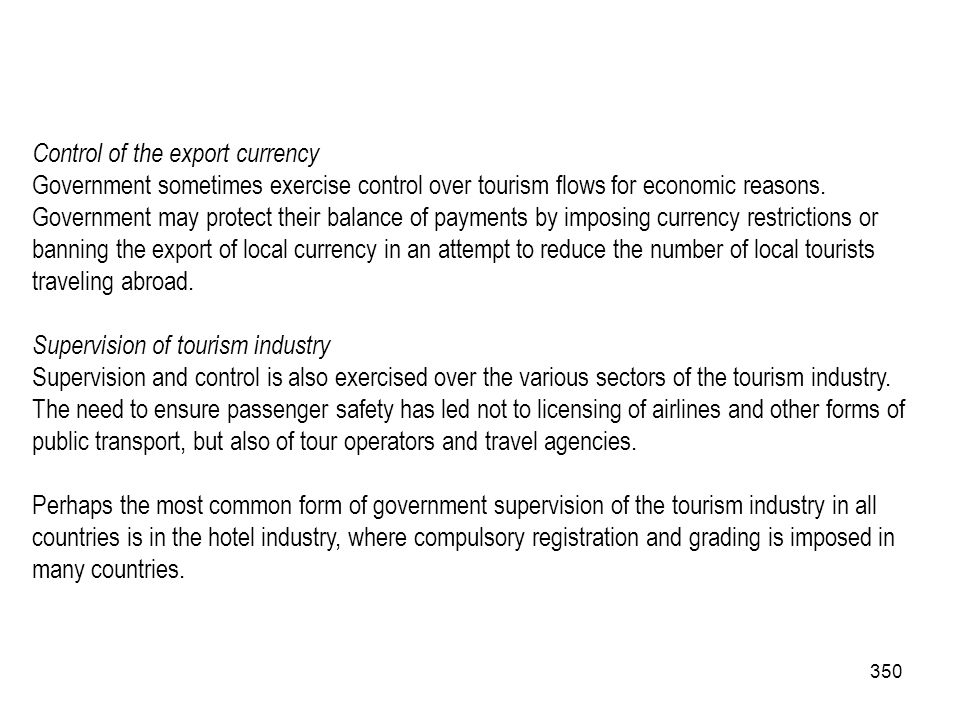 Control of the export currency
