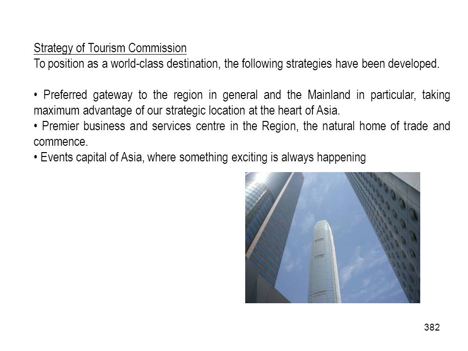 Strategy of Tourism Commission