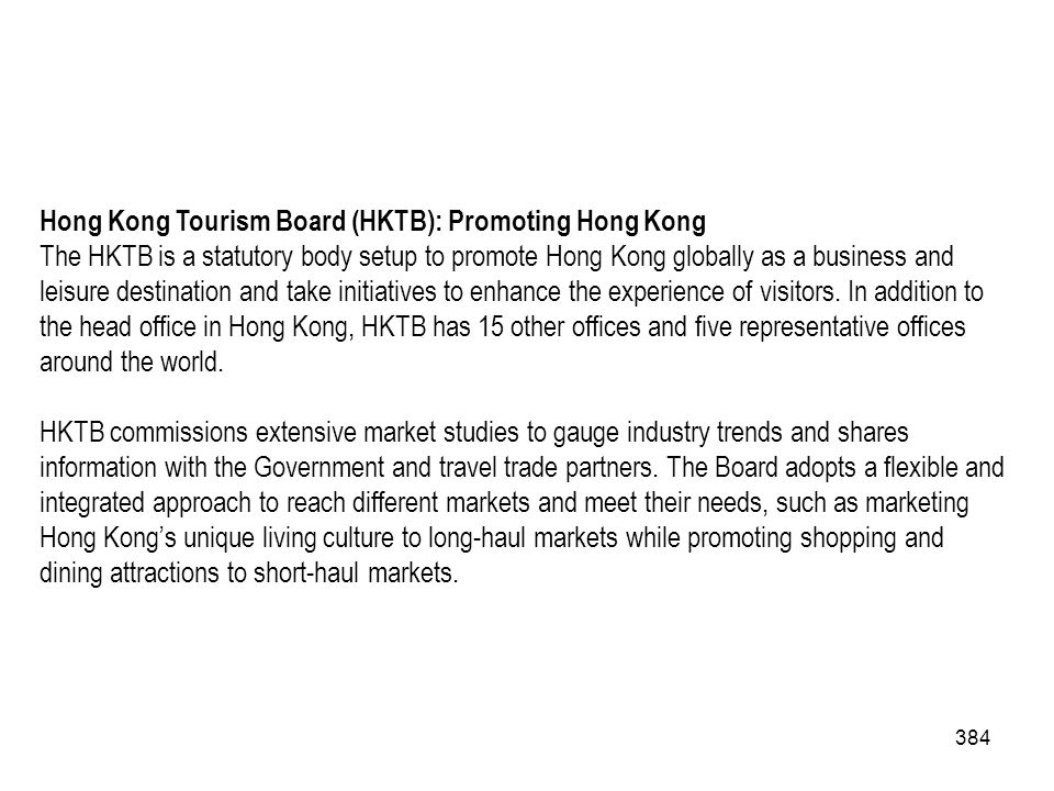 Hong Kong Tourism Board (HKTB): Promoting Hong Kong