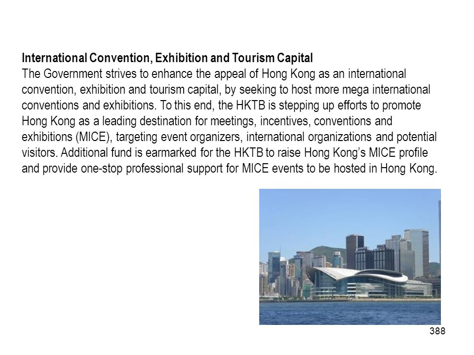 International Convention, Exhibition and Tourism Capital