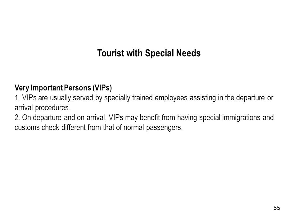 Tourist with Special Needs
