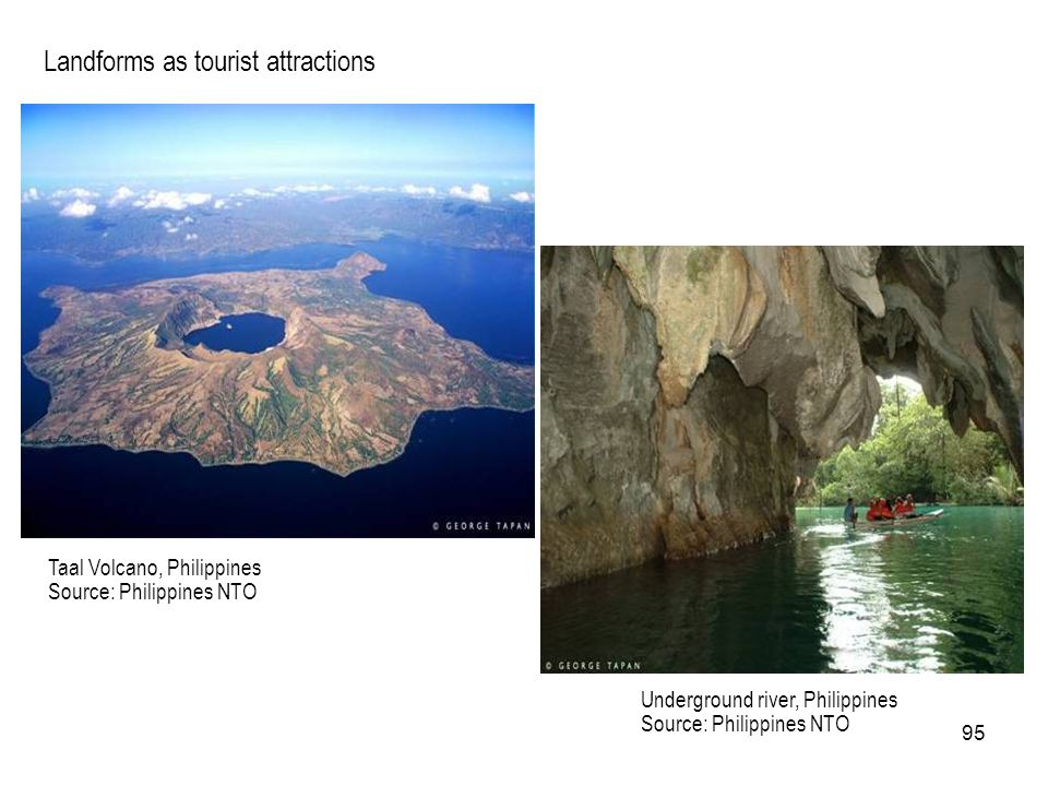 Landforms as tourist attractions