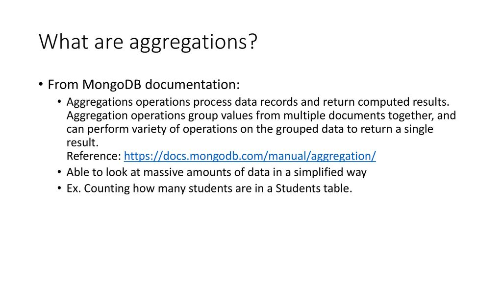 MongoDB Aggregations  - ppt download