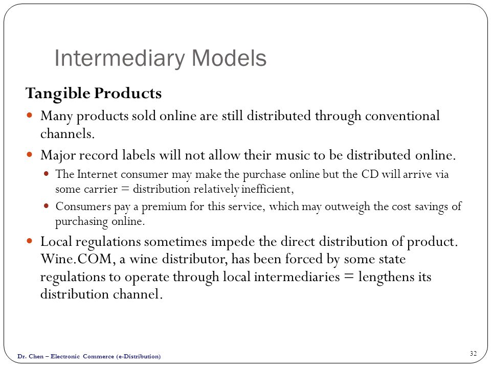 Intermediary Models Tangible Products