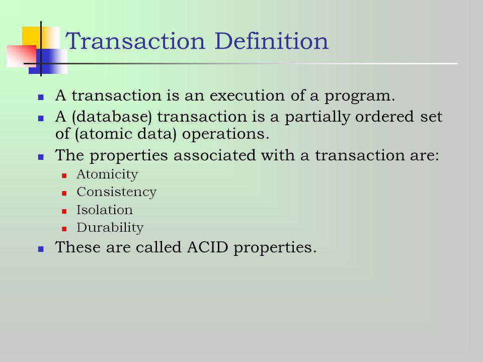 Transaction Definition