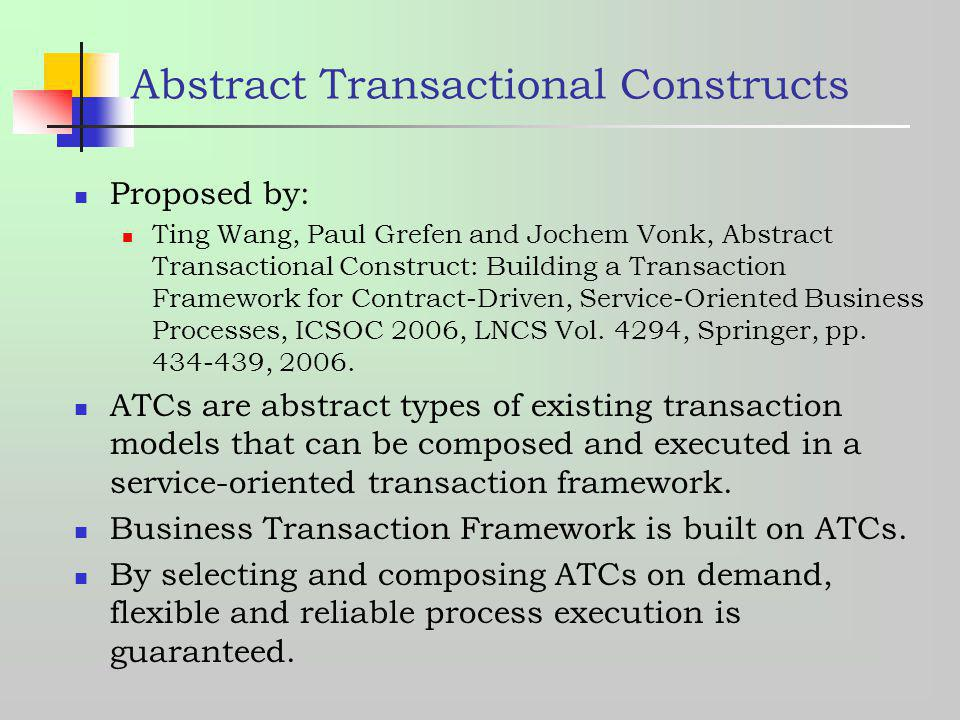 Abstract Transactional Constructs