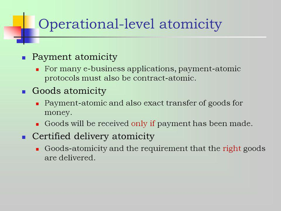 Operational-level atomicity
