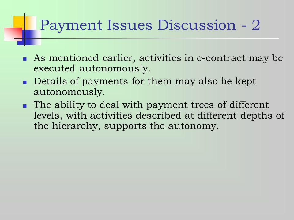 Payment Issues Discussion - 2