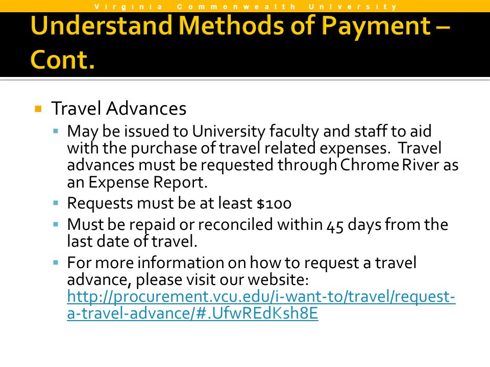 Understand Methods of Payment –Cont.