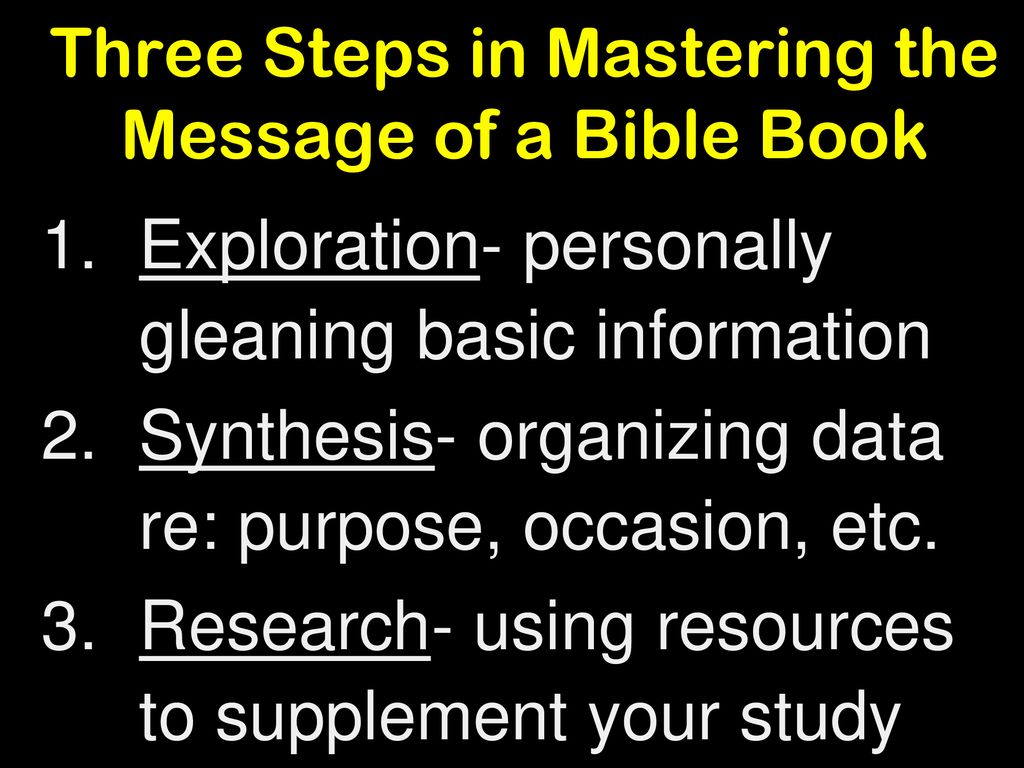 How to Study the Bible  - ppt download