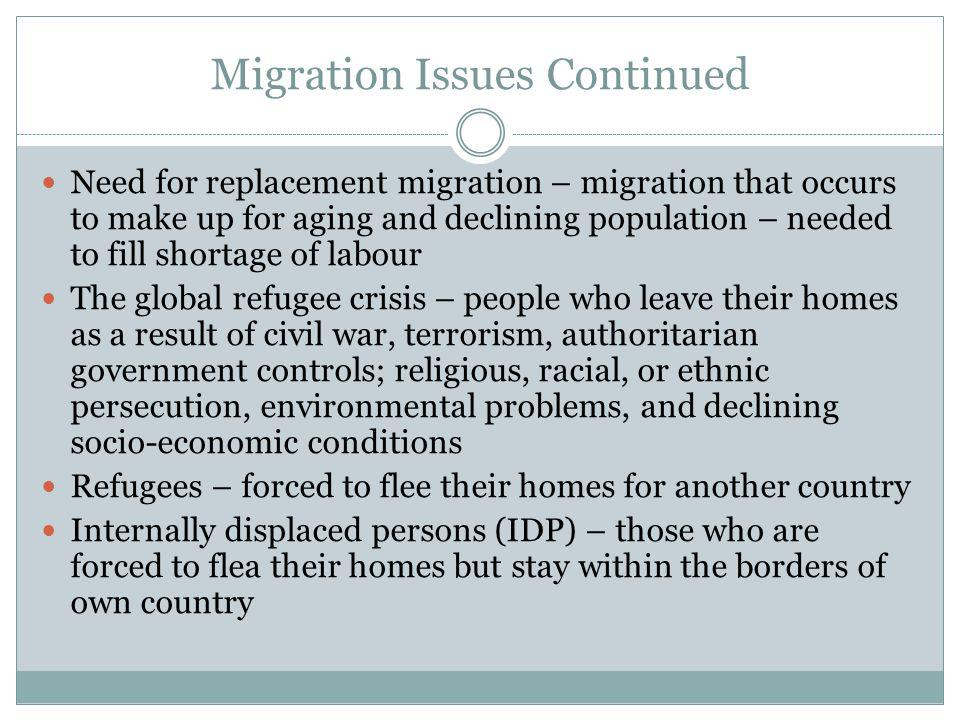 Migration Issues Continued