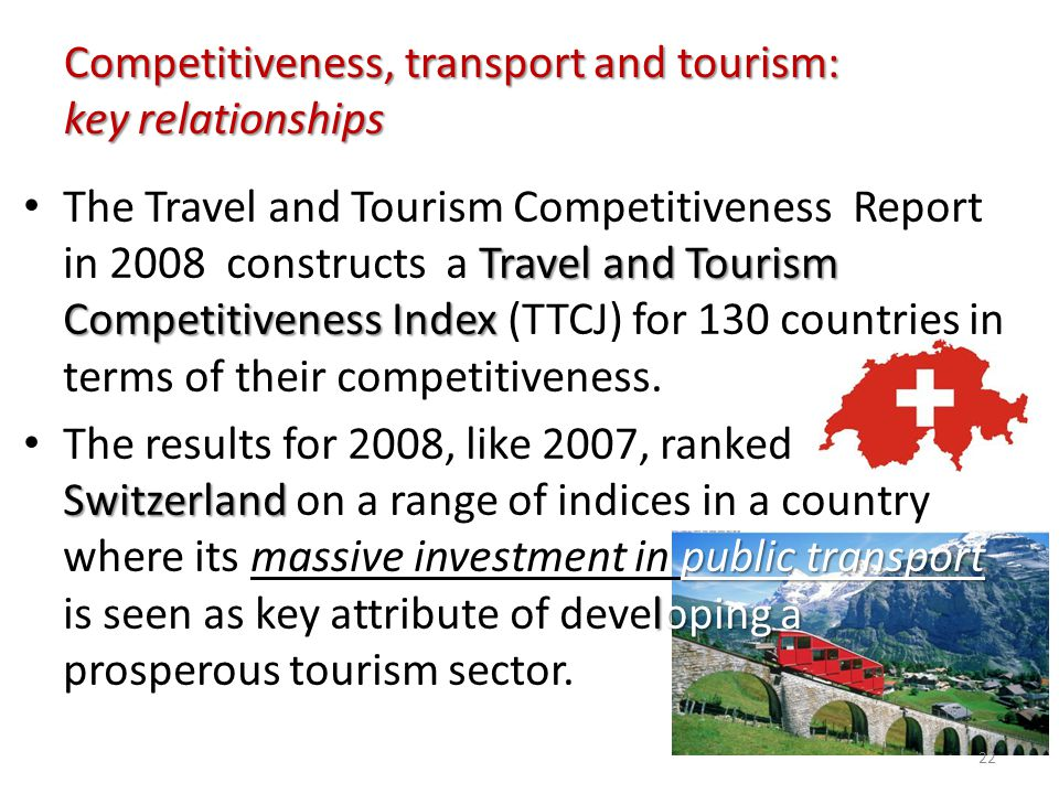 Competitiveness, transport and tourism: key relationships