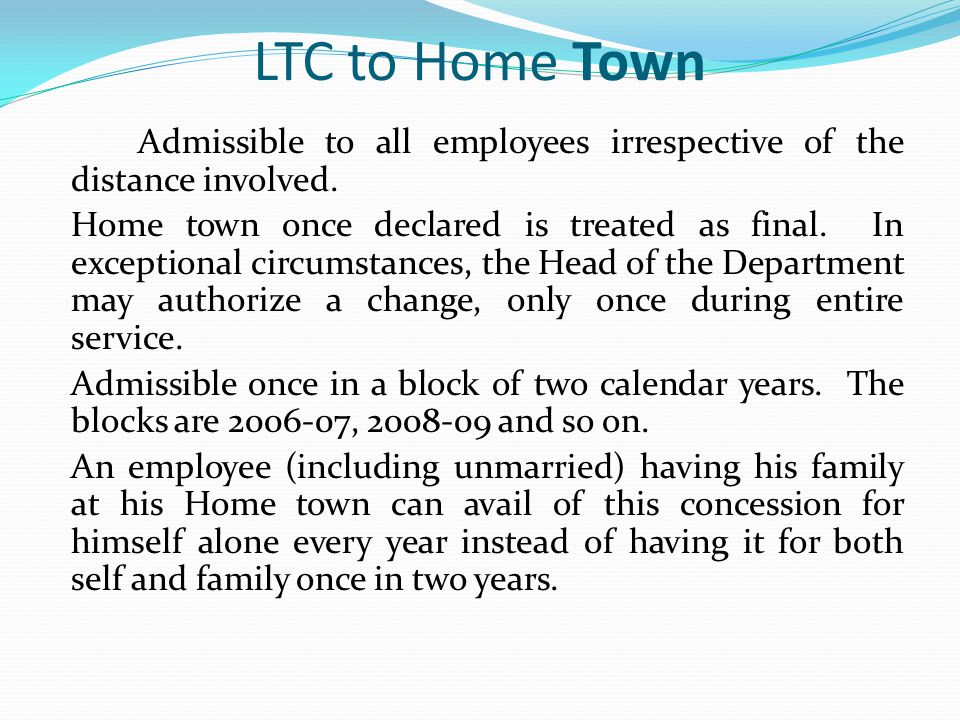 LTC to Home Town