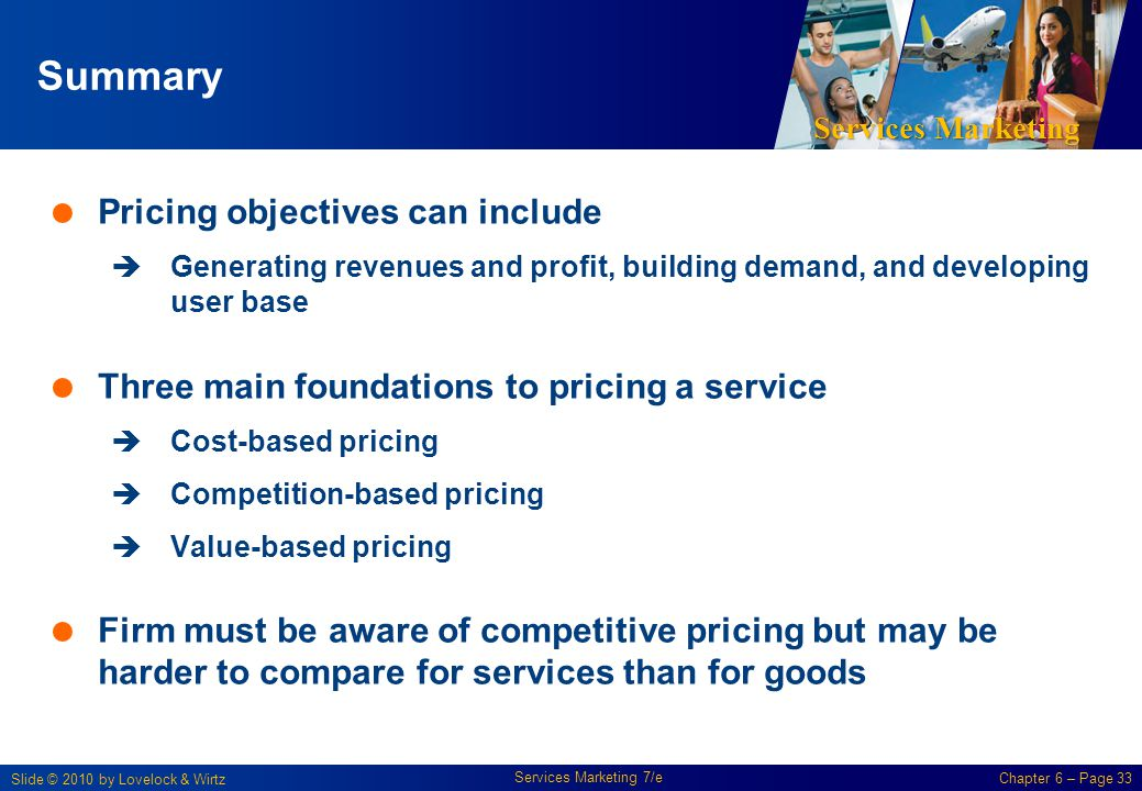 Summary Pricing objectives can include