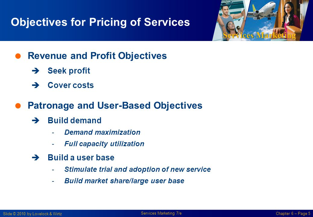 Objectives for Pricing of Services